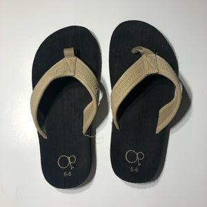 OP Flip Flops Tan Size 5/6